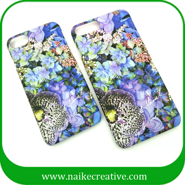 Mysterious colorful flower iphone case