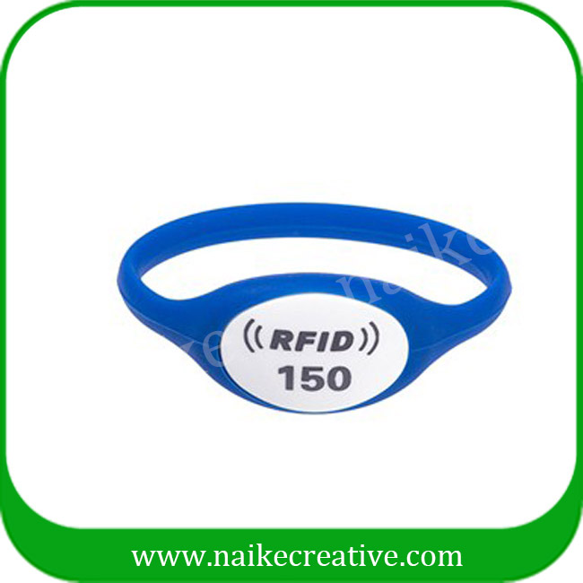 RFID silicone bracelet hf waterproof wristband for sporting club
