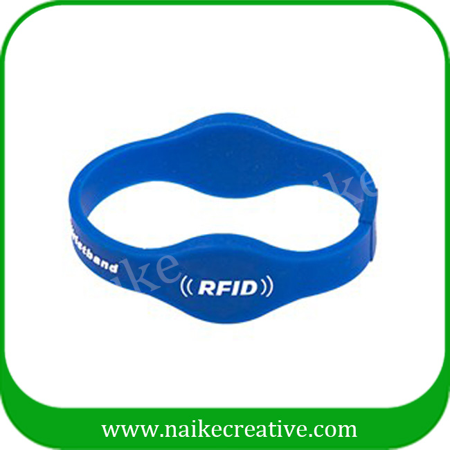 New design dual frequency silicone rfid wristband with double chips