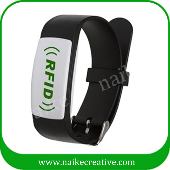 Silicone smart rfid wristbands for theme park events