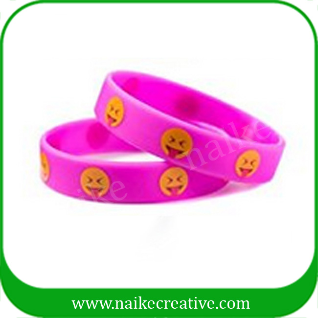 Promotional Emoji Party Gifts Cheap Silicone Bracelet