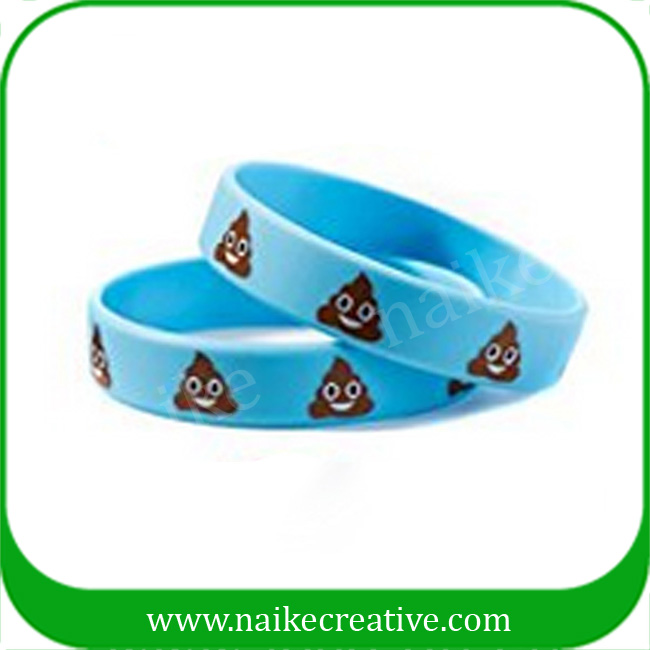 Emoji Silicone Wristbands Bracelets For Kids Party Supplies