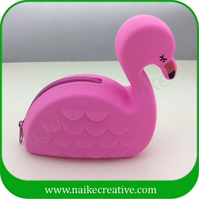 Hot Selling New Design Flamingo Silicone Coin Purse For Women