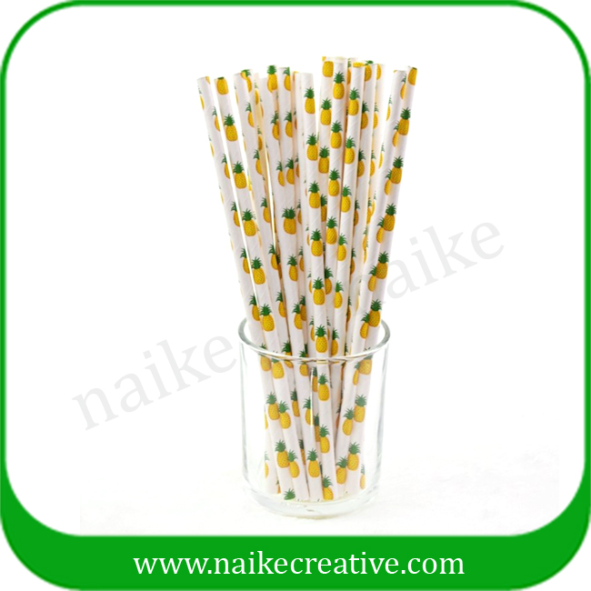 Newest Design Fruit Paper Straw For Party 25pcs Per Polybag