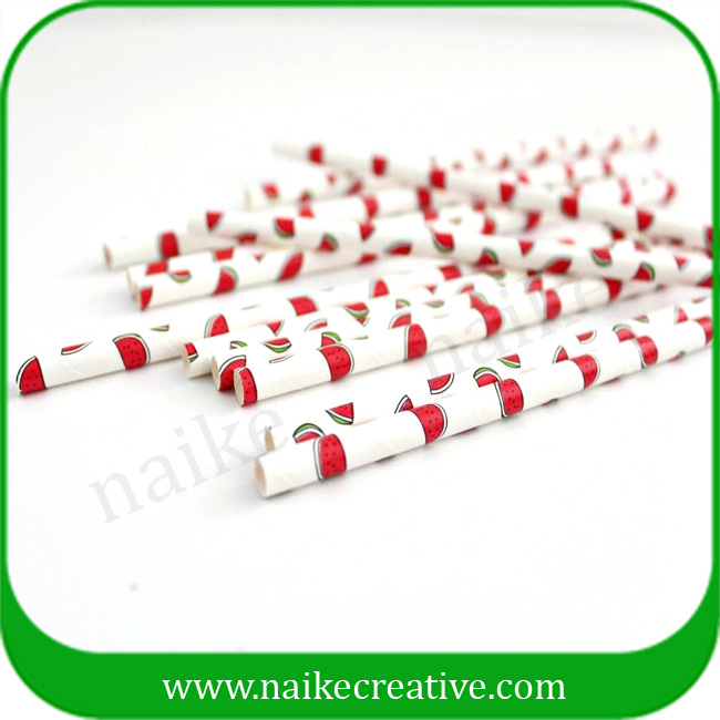 Food Grade Watermelon Paper Drinking Straw Factory Supplier