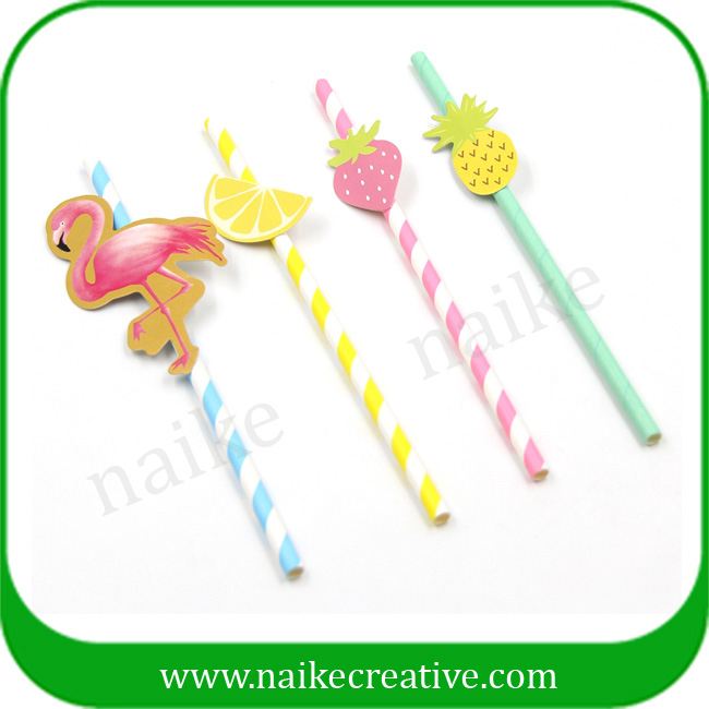 Summer Fruits Hot Papers Pineapple Themed Drinking Straw