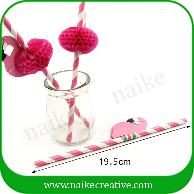 Flamingo Decorative Cocktail Straw For Drinking