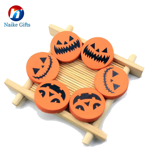 Hallowmas Funny Pumpkin Shape Design Pencial Eraser For Chlidren And Students
