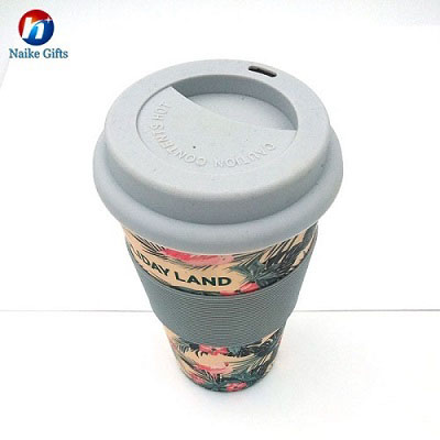 Personalized Custom Logo 100% natural bamboo cup With Bamboo Fiber Coffee Cup