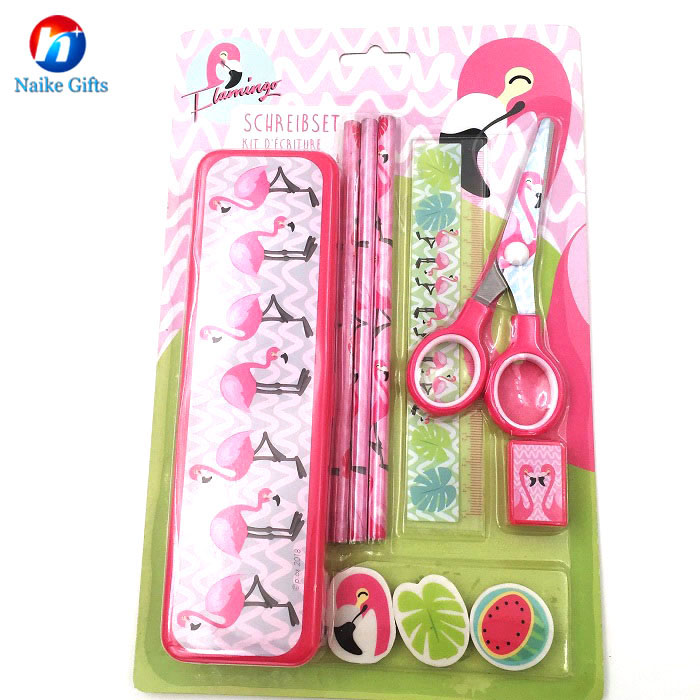 Flamingo stationery set title=